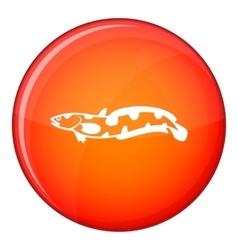 Anarhichas fish icon flat style vector