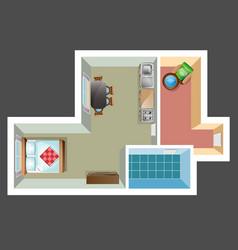 apartment floor plan vector image