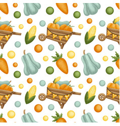 autumn harvest time seamless pattern vector image