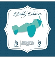 Baby Shower design airplane icon graphic vector image