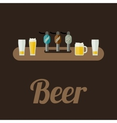 Bar counter with beer vector
