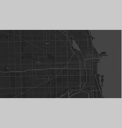 Black grey chicago city area background map vector