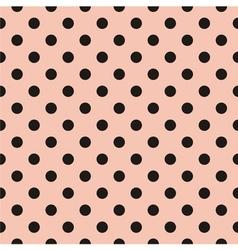 Black polka dots tile pattern or pink wallpaper vector image vector image