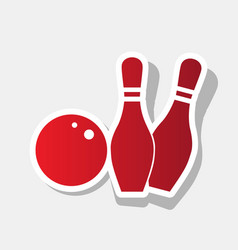 bowling sign new year vector image