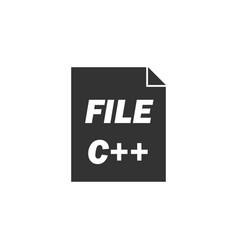 c file icon flat vector image