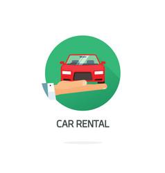 car or automobile rental symbol in flat vector image