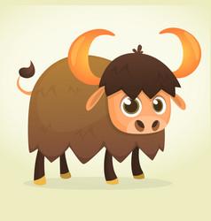 Cartoon bison american anima vector