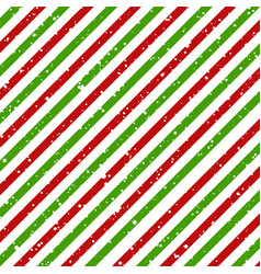 Christmas diagonal striped red and green lines on vector