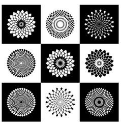 Circle design elements set vector