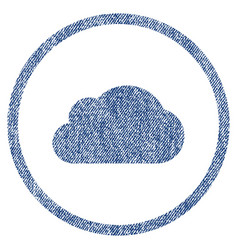 Cloud fabric textured icon vector