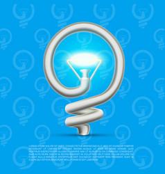 Creative lamp made helix vector