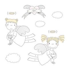 Cute angels vector