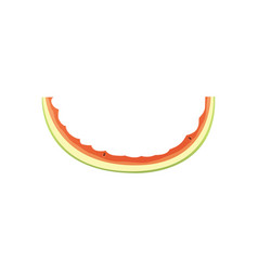cute watermelon bite cartoon vector image