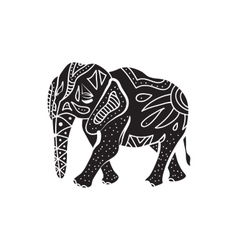 Elephant icon in simple style vector
