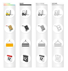 equipment mail transportation and other web icon vector image