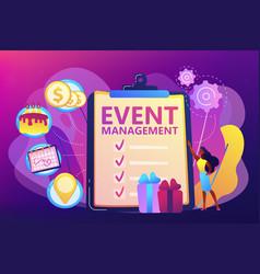 Event management concept vector
