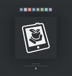 Farm website icon vector