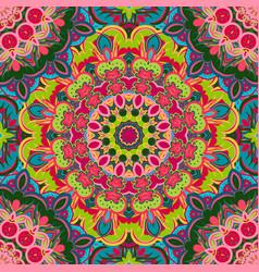 Festival art seamless mandala pattern ethnic vector