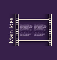 Film reel back vector