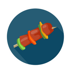 Flat style barbecue icon vector
