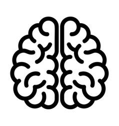 genius brain icon outline style vector image