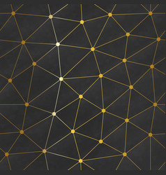 gold color web triangle pattern vector image