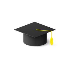 Graduation cap or mortar board education design vector