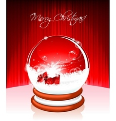 holiday on a christmas theme with snow globe again vector image