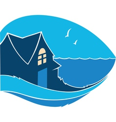 Home near the sea vector