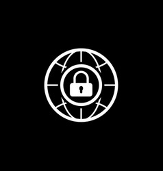 Internet security icon flat design vector