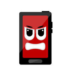 isolated angry cellphone emote vector image