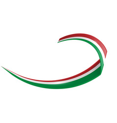 italian and mexican shape wave flag isolated on vector image
