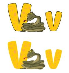 letter V viper vector image