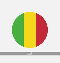 mali round circle flag vector image