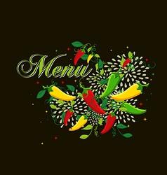 Mexican food menu cover design vector