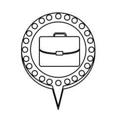 Monochrome silhouette of executive briefcase and vector