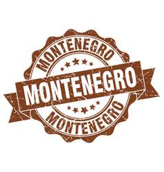 Montenegro round ribbon seal vector
