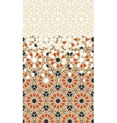 Moroccan border geometric arabic islamic vector