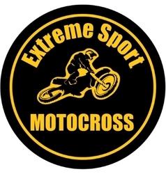 Motocross extreme sport background vector