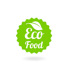 natural stamp eco friendly vector image