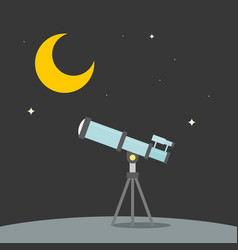 Observation star with telescope vector