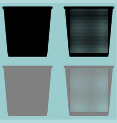 Pail bucket serene or dustbin with metal vector