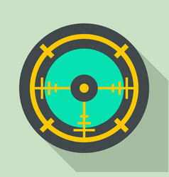 Police aim radar icon flat style vector