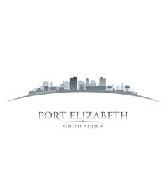 Port elizabeth south africa city skyline silhouett vector