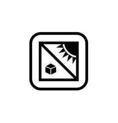 Protect from heat symbol for package signs vector