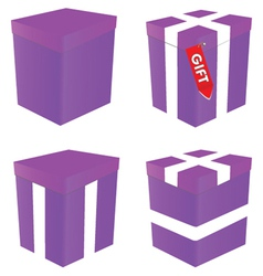 purple gift box vector image