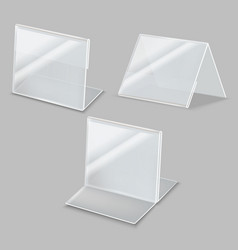 realistic detailed 3d empty plastic holder set vector image