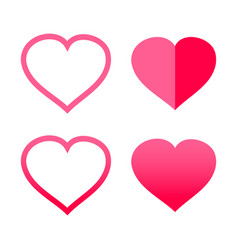red shape heart icon symbol graphic design vector image