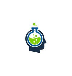 research human head logo icon design vector image