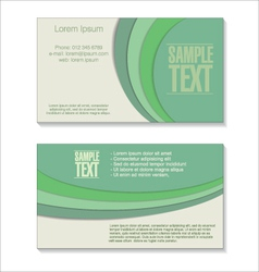 Retro green Business card vector image
